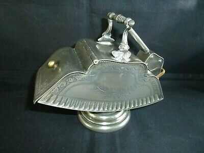 Superb Antique Victorian Silver-Plated Lidded Sugar Scuttle & Scoop