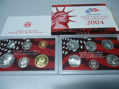 USA 2004 - KMS mit 5 Quarters in PP im Blister! Proof Set 1c - 0,50$