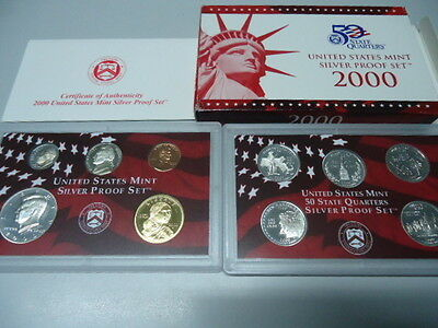 USA 2000 - KMS mit 5 Quarters in PP im Blister! Proof Set 1c - 0,50$