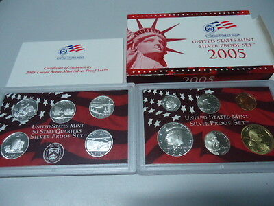 USA 2005 - KMS mit 5 Quarters in PP im Blister! Proof Set 1c - 0,50$