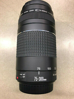 Canon Zoom Lens 75-300Mm 1:4-5.6 Iii 1.5M/4.9Ft 58Mm Malaysia With Lens Caps