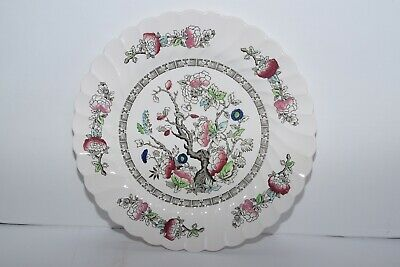 "Myott Staffordshire China Earthenware England Indian Tree 10"" Dinner Plate"