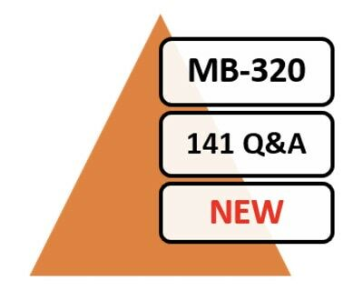 Updated MB-320 Exam QA 57 Q&A PDF File!