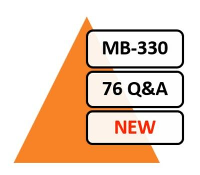 Updated MB-330 Exam 76 Q&A PDF File Only!