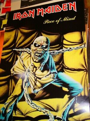 Vintage Poster IRON MAIDEN Piece of mind rock band heavy metal 1983 Inv#G3924