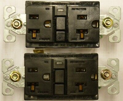 COOPER Ground Fault Circuit Interrupter 20A Receptacle 2P 125V LOT OF 2 GFCI