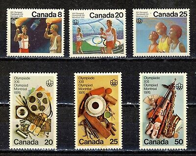 1976 #681-#683 Olympic Ceremonies & #684-#686 Olympic Arts & Culture Vfnh