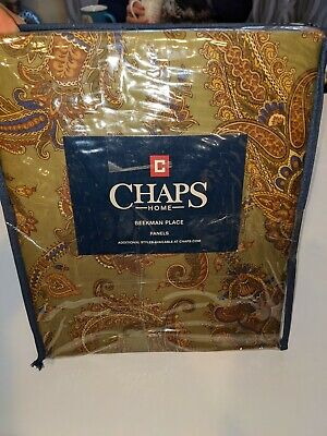 """Chaps Home Beekman Place Window Panels Set Ties 42/""""x84/"""" Green Drapes Curtains"""