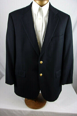 Nice 43R Brooks Brothers Navy Blue Blazer Gold Buttons Wool/Cashmere Sp939