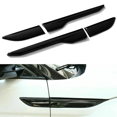 Gloss Black Side fender air wing vent cover trim For range rover EVOQUE 11-2017