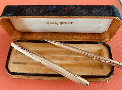 CONWAY STEWART ROLLED GOLD PEN AND PENCIL, c.1939