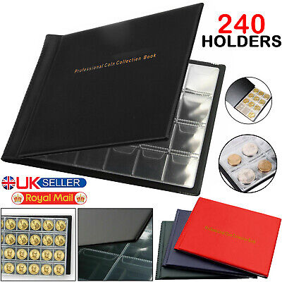 240 Album Coin Collection Collecting Penny Money Storage Book Case Folder Holder