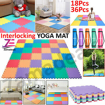 Yoga Mat for Pilates Gym Exercise Carry Strap Thick Large Comfortable UK