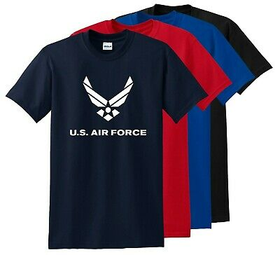 US--USAF- UNITED STATES AIR FORCE -Military-Physical-Training-T-Shirts SHEILD