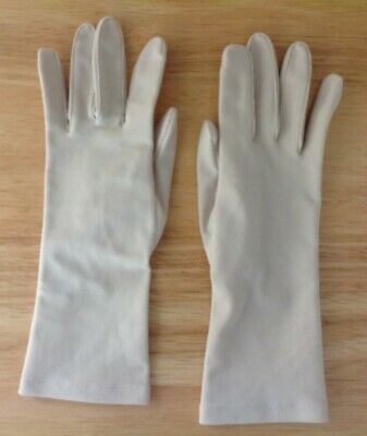 Vintage Womens Isotoner Gloves for Hands Beautiful by Aris- Beige, One Size, VGC