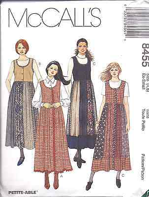UNCIRCULATED McCALL/'S #8455-LADIES FRONT BUTTON JUMPER PATTERN 4-22FF 3 STYLE
