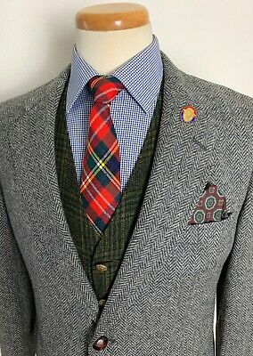 Vtg CRICKETEER Wool TWEED Blazer 38 S jacket HERRINGBONE blazer Sport IVY Trad