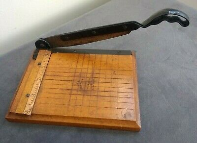 """Small Vintage Antique Paper Photo Guillotine Trimmer The """"Jaynay"""" 5"""" Photography"""