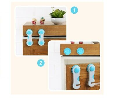 5pcs/lot Multi-function Child Baby Safety Lock Cupboard Cabinet Door Drawer Safe