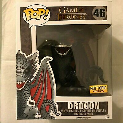 "Funko Pop! Game of Thrones 6"" Drogon RED EYES #46 Hot Topic Exclusive!"