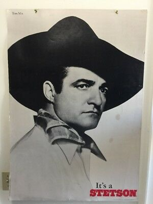 """It's a Stetson"" Store Poster: Tom Mix 1995 Limited Edition Heritage Print HEAVY"