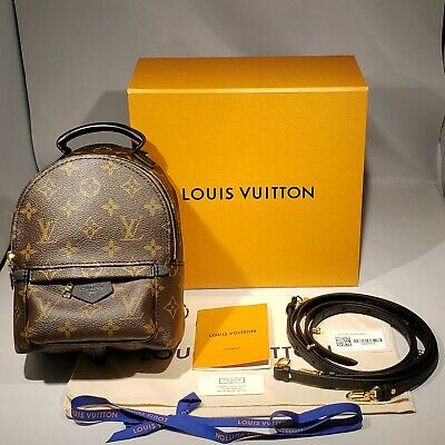 New Authentic Louis Vuitton Palm Springs Backpack Mini Monogram Small Bag M44873