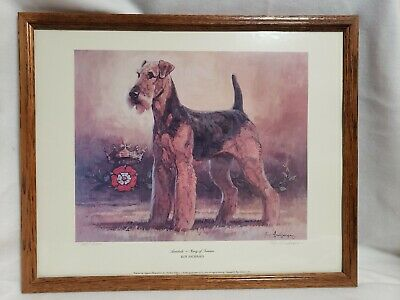Airedale King of Terriers Signed by Roy Andersen 38/650 Limited Edition 1985 Art