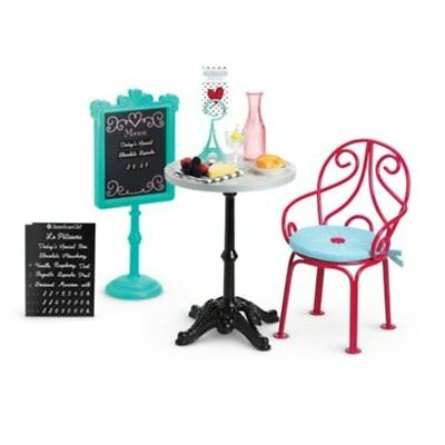 American Girl Doll Grace's 2015 Bistro Table,Chairs,Food Accessories - New NRFB
