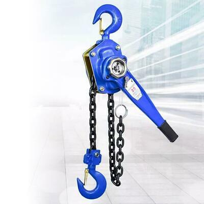 3T Lift Lever Alloy Steel Chain Block Hoist Ratchet Lever Pulley 0.75 Ton and 3Ton Heavy Duty Chain Hoists for Lifting Work 3 Meters 10FT
