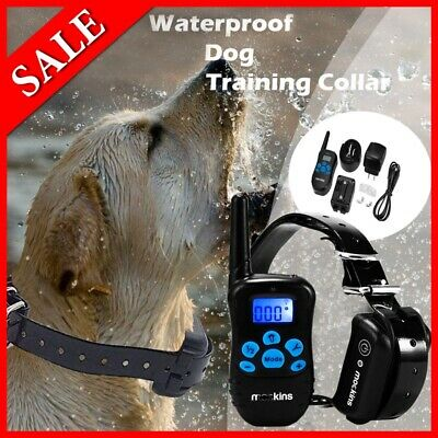 Dog Shock Collar Training Bark E-Collar Electric Remote For Small Large Big Dogs
