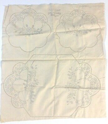 Wartime Production: Stamped Vanity Set To Embroider ~ Collector's item ~  RARE!