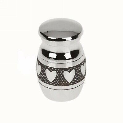 Mini Heart Urn for Ashes Cremation Memorial Small Keepsake Ash Container Jar