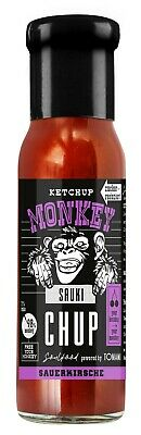 (100ml €1,66) Ketchup Monkey SAUKI-CHUP Sauerkirsche 240ml