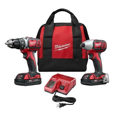 Milwaukee Tool Combo Kit 18-Volt Lithium-Ion Cordless Battery Charger Bag 2-Tool