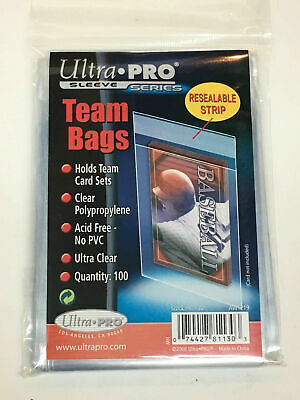 600 Ultra Pro Team Set Bags Reseal Sleeves Holder Pack Reusable Adhesive #81130