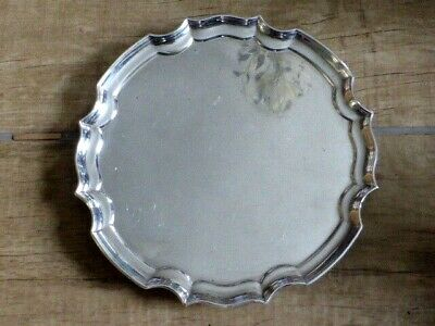 Great Antique Silver Plated Salver, c1900