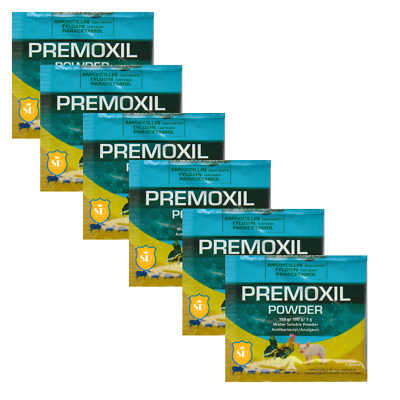 Premoxil 5g (Pack of 6) Control of Collibacillosis, Coryza, CRD, Wound Infection