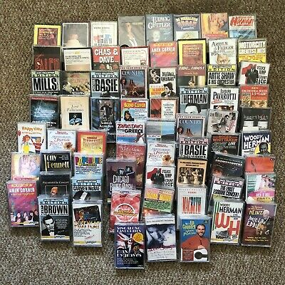 Cassette Tapes Mixed Bundle * New Sealed Unopened * Joblot X 68 Mixed Genres
