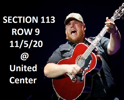 Luke Combs Ashley McBride Ray Fulcher 11/5/20 Chicago United Center 2 Tickets