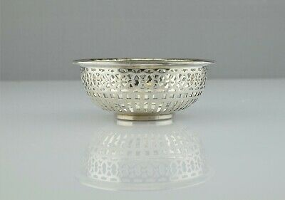 Vintage Watson Co. #3389 Sterling Reticulated Nut Candy Dish