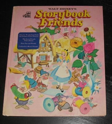 1976 Walt Disney's Storybook Friends GOLDEN BOOK Alice in Wonderland PETER PAN