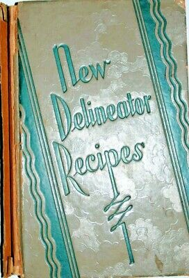 VINTAGE BOOKS - New Delineator Recipes  1929
