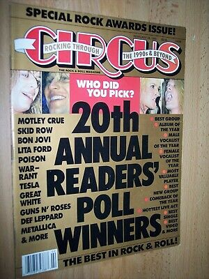 Circus Magazine 19th Annual Readers Poll Winners February 28, 1989