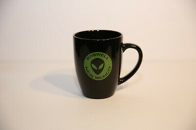 Roswell New Mexico Alien Logo Green on Black Coffee Cup