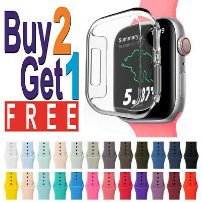 Silicone Wrist Band Strap For Apple Watch 1/2/3/4/5/6/SE Sports 44/42/40/38mm
