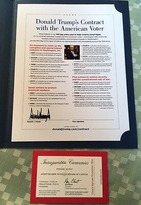 President DONALD TRUMP American Voter Contract, Inauguration Tickets Bill Rights