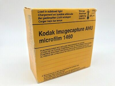 Kodak Imagecapture AHU Microfilm 1460, 100' Roll of 35mm Black & White Film Rare