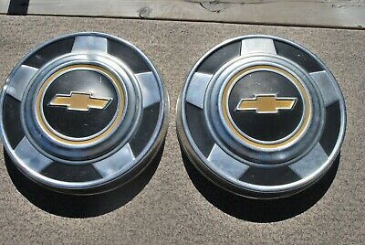 "Chevrolet Dog Dish Hub Cap 10 1/2"" Dia. Fits Appx. 70'S-80'S Year  Set Of 2"