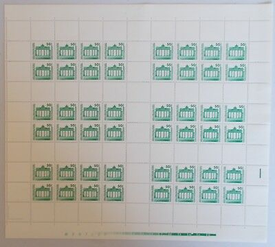 East Germany - SG E3042a uncut full sheet of 6 booklet panes. Unmounted mint.