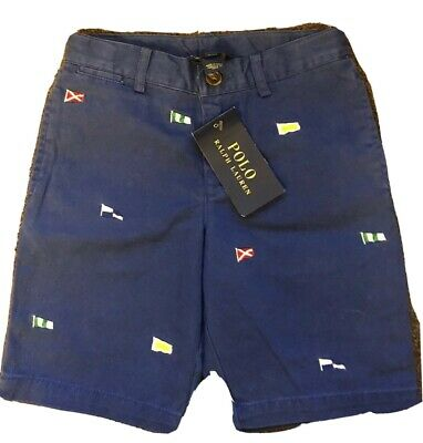 Polo Ralph Lauren Boys Flag Embroidered Shorts Aged 5-6 Years BNWT RRP £125